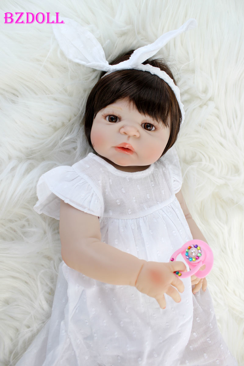 55cm Full Silicone Body Reborn Babt Doll Toy Vinyl Newborn Princess Babies Girl Bonecas Bebe Alive Bathe Toy Kids Play House Toy55cm Full Silicone Body Reborn Babt Doll Toy Vinyl Newborn Princess Babies Girl Bonecas Bebe Alive Bathe Toy Kids Play House Toy