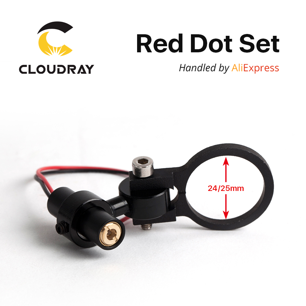 Diode Module Red Dot Set Positioning DC 5V for DIY Co2 Laser Engraving Cutting Head
