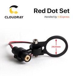 Diodo Módulo Red Dot Posicionamento Conjunto DC Co2 5V para DIY Cabeça de Corte A Laser Gravura