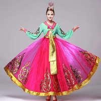 Fortunately, this big long Dance Costume hanbok Korean women's national costume piece Korean costumes