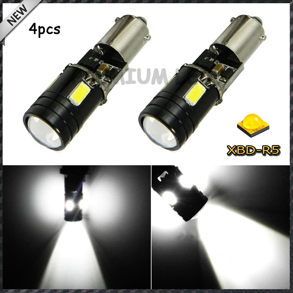цены  4)  H21W BAY9s 120 degress Canbus High Power White 9W 4-SMD CRE'E LED Lens Bulbs for Backup or Parking Lights, Base: h21w, bay9s