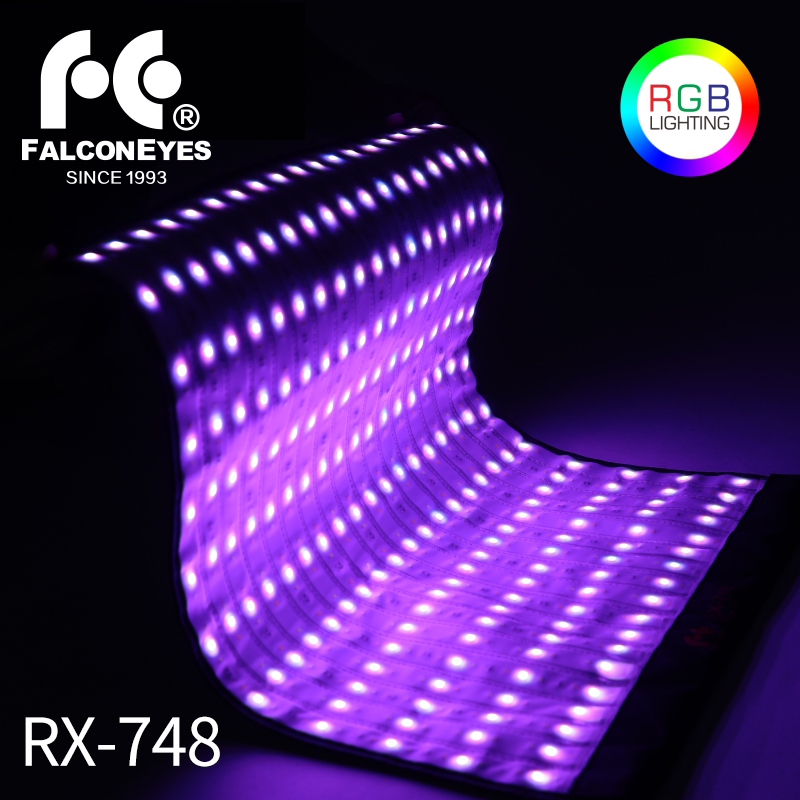 Falcon Eyes RX 748 RGB 300W 4x2 Feet Flexible LED Fotografia Camera Light Waterproof Continuous for
