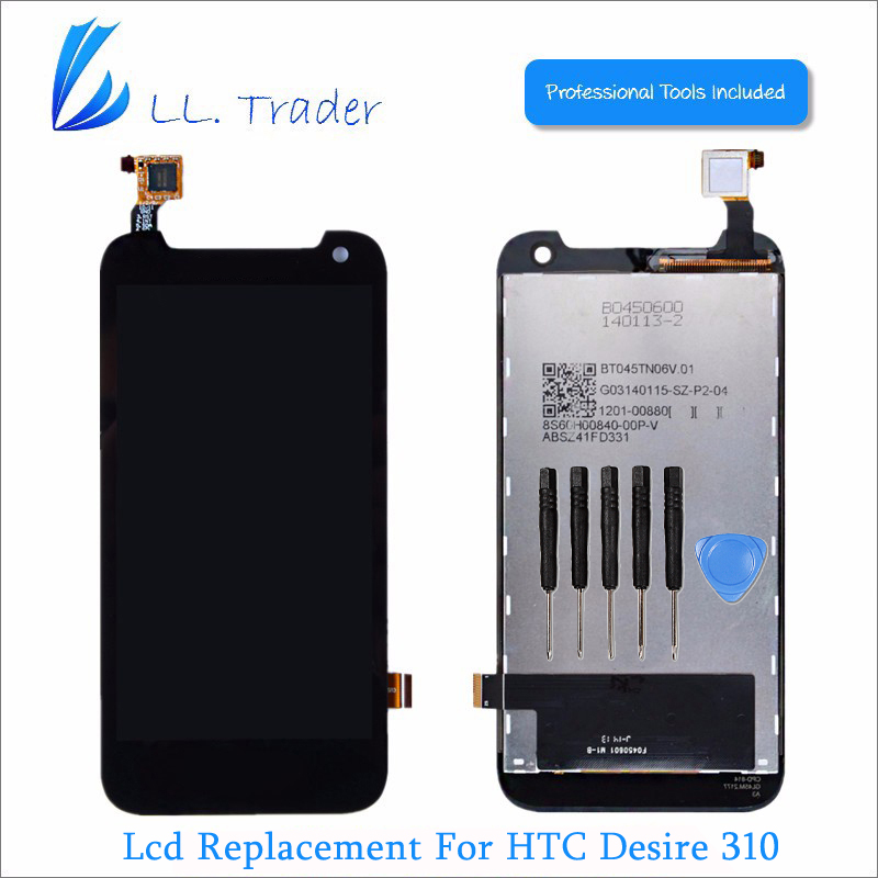 LL TRADER Highscreen Top Brand New LCD Replacement For HTC Desire 310 LCD Display Screen +Touch Screen Digitizer Assembly+Tools best price brand new for highscreen
