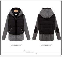 2017style pressure print pocket zipper long style body warm cotton garment