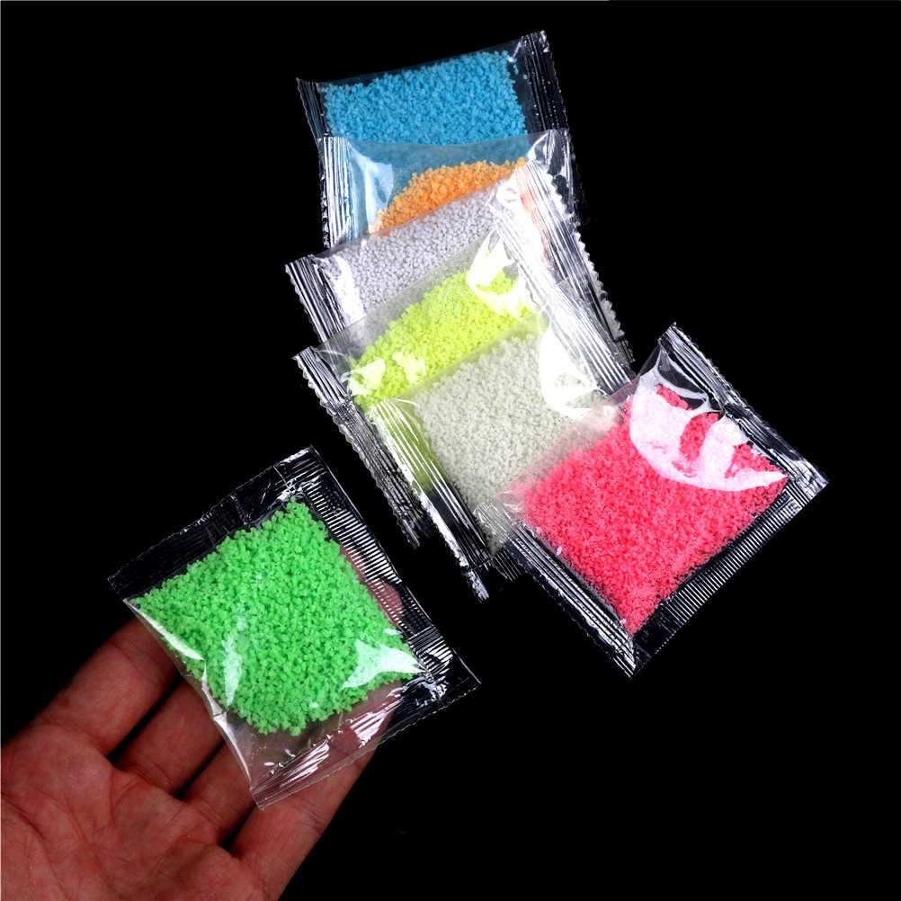 1 zak DIY Kleurrijke Fluorescerende Super lichtgevende Deeltjes Glow Pigment Bright Glow Zand Glow in The Dark Zand Voor Party levert