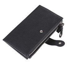 Artmi Genuine Leather Bifold Wallet Card Holder Men Wallets for Phone Wallet  Long Handbags with Zipper
