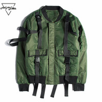 Aelfric Eden Bomber Jacket Men Harbor Pilots MA1 Jacket Casual Ribbon Spliced Patch Jacket Male Thicker