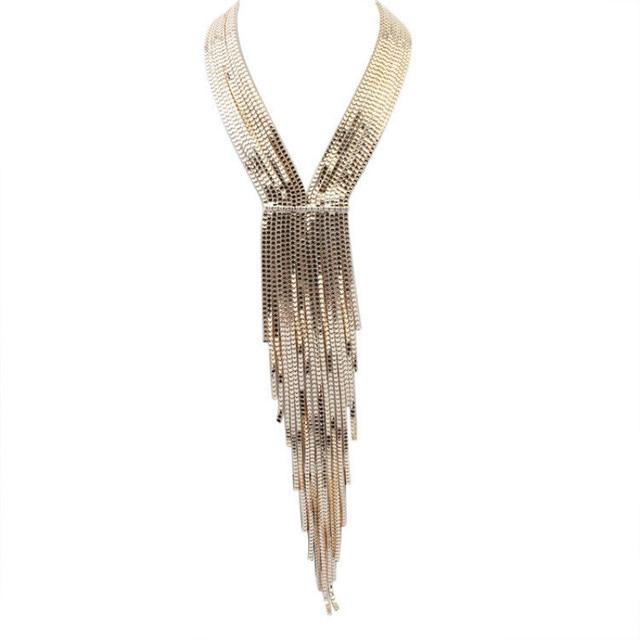 Tie Pendant Necklace Zinc...