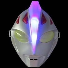 2019 sell like hot cakes 24cm*18.5cm*9cm PVC Ultraman Jack Luminous mask model Holiday gifts Hallowmas Masquerade cosplay props