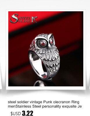 Модное мужское кольцо с изображением солдата из нержавеющей