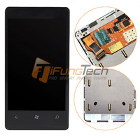 Black Full LCD Display Panel Touch Screen Digitizer Assembly With Frame For Nokia Lumia 800 Phone