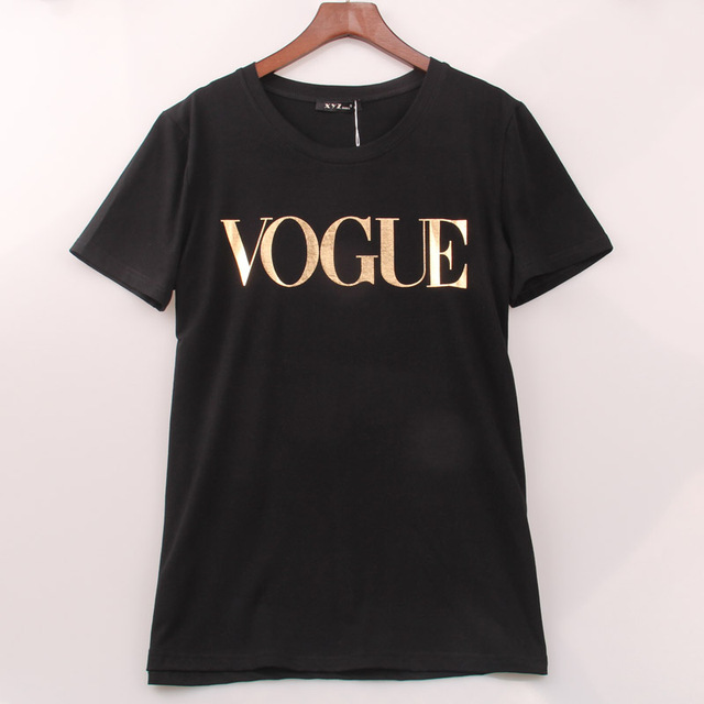 VOGUE Printed T-shirt Women Tops Tee Shirt  1