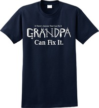 Print T Shirt Hipster MenS O-Neck If Anyone Can Fix It Grandpa Short Sleeve Compression Shirts