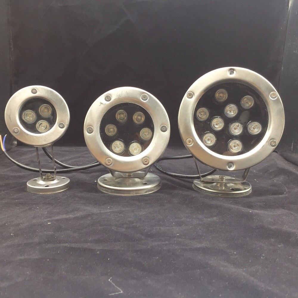 3 Вт 6 Вт 9 Вт Светодиодный прожектор IP68 водонепроницаемый лампа загорается AC/DC 12 В 24 В для фонтана Бассейны пруд рыбы в аквариуме парк