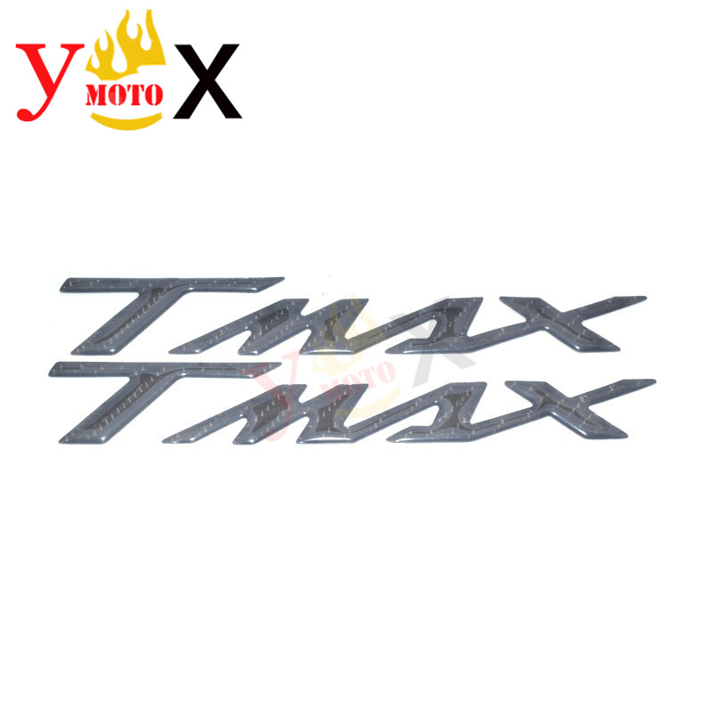Maxi Scooter Carbon Fiber T-MAX Battery Cover Emblem Side Fairing Sticker Tank Decal Logo For Yamaha TMAX T MAX TMAX500 TMAX530