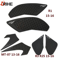Motorcycle Protector Anti slip Tank Pad Sticker Gas Knee Grip Side 3M Decal For Yamaha MT 07 2013 2016 yzf R3 R25 R1 2015 2016