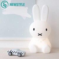 Cute Rabbit LED Night Light Children Bedroom Night Lamp Dimmable Cartoon Decorative Lamp for Baby Birthday Christmas Gift 50cm