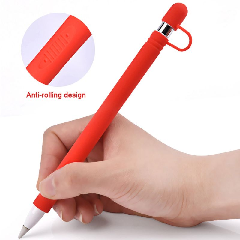 Silicone Anti-lost Protective Case Shell Anti-scroll Skin Nib Cover / Cable Adapter Tether For Apple Pencil
