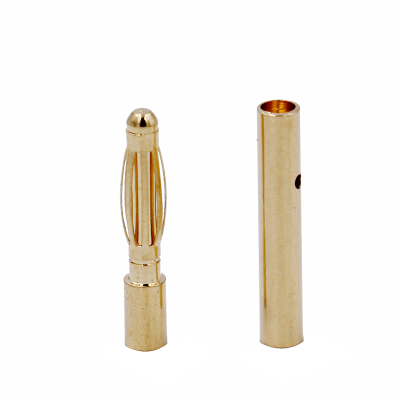 20pair/lot 2.0mm 2mm Gold Banana Connecter Bullet Battery Plug for RC battery 20% off