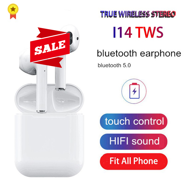 <font><b>Original</b></font> <font><b>i14</b></font> <font><b>TWS</b></font> In ear Blutooth Earphones Touch Mini Wireless Earbuds Headsets Elari nanopods Headphones Audifonos Para Celular image