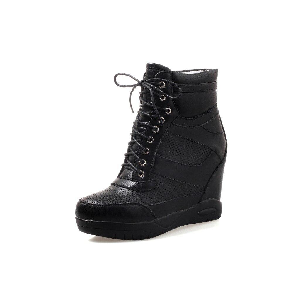2018 Talons White Furtado Cuir Taille Automne Augmenté En Chaussures forme Compensées Printemps Sport black Blanc 10 Cm 32 De Mode Arden Véritable Ont Plate On0PXk8w