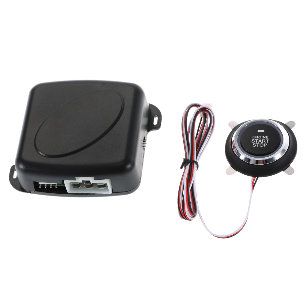 Auto Car Alarm Engine Starline Push Button Start Stop RFID Lock Ignition Switch Keyless Entry System Starter Anti-theft System цена и фото