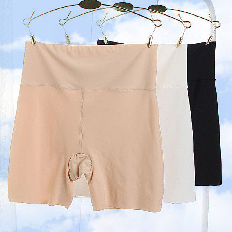 3 Colors Elastic Model Soft Women Short Polyester Solid Elastic Waist Seamless Shorts