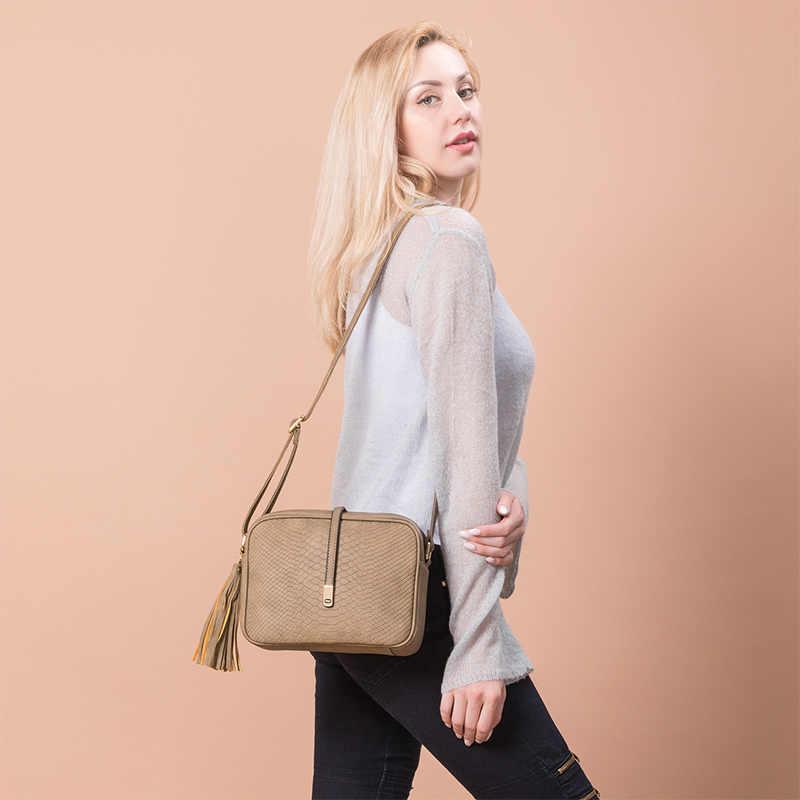 REALER petits sacs à bandoulière pour femmes sacs à bandoulière dames rétro design sac à main avec gland femme école étudiant sac