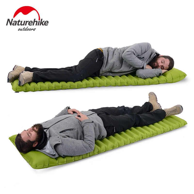 1 человек Naturehike нейлоновый легкий матрас надувной коврик быстрое наполнение воздушным мешком мягкая подушка водонепроницаемый спальный коврик NH16D003-D