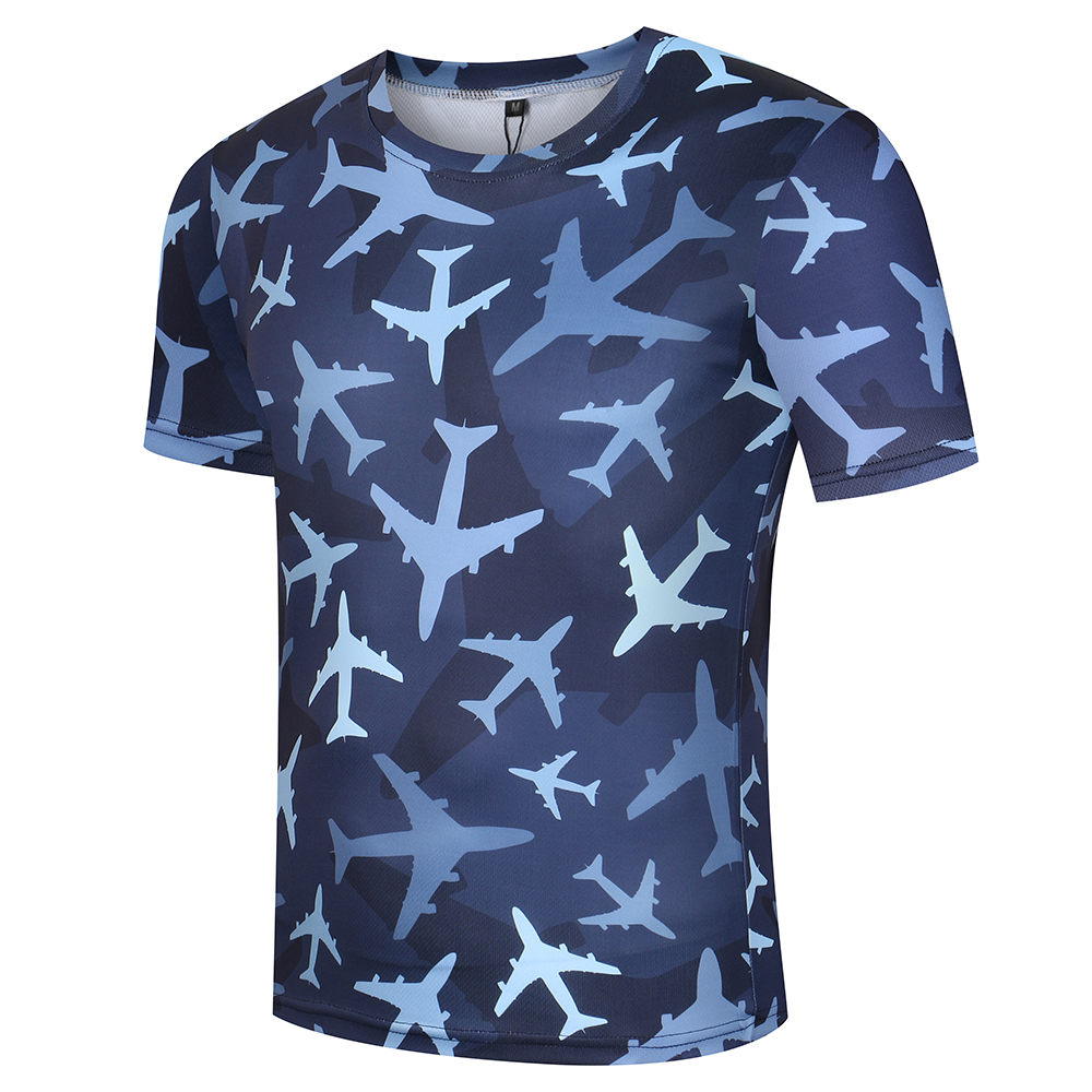 KYKU Aircraft moška majica majica maskirna vojaška majica fitnes - Moška oblačila - Fotografija 2