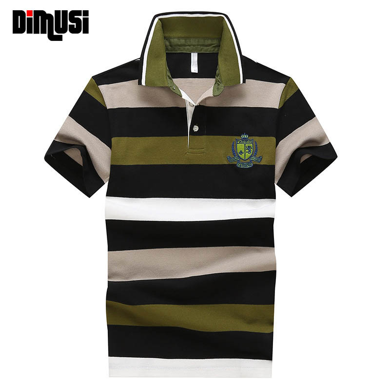 DIMUSI Embroidery Men   Polo   Shirt Summer Short Sleeve Cotton Shirts Male Business Letter Mens Tees Brand Clothing 4XL,YA578