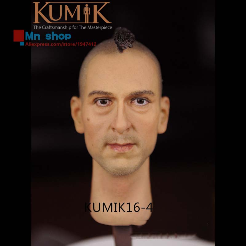 KUMIK Head 1/6 Head Sculpt Male Head Carving Model Bareheaded Fit 12 Action Figure Doll Body Toys Free Shipping  KM16-4 1 6 male head sculpt old logan head carving for 12 muscular body figure collections