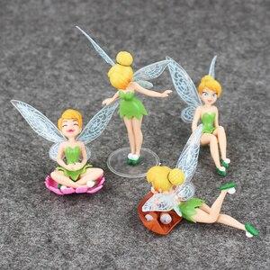 Image 1 - 4 Cái/lốc Hình Công Chúa Đồ Chơi Tinkerbell Cổ Tích Quốc Bộ Cho Trẻ Em Quà Tặng Sinh Nhật