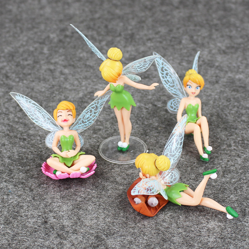 4pcs/lot Princess TinkerBell Fairy Figure Toy Set For Boys And Girls