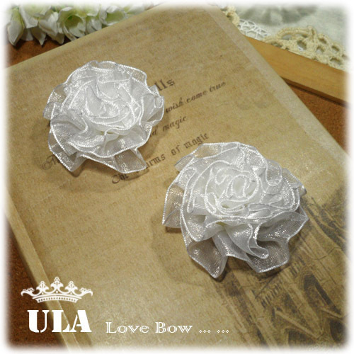 Wholesale applique 3D flower folded design DIY Decoration Lace Fabric Paste Decoraive Cloth Paste white Lace Applique 40pcs/lot