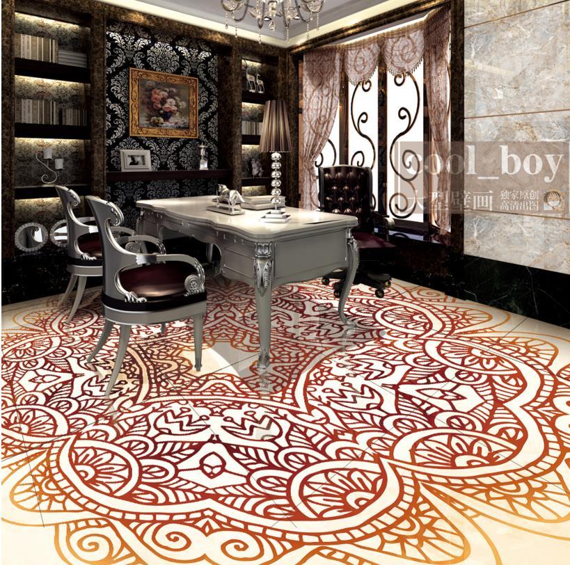 3d flooring wallpaper HD European simple pattern 3d floor self -adhesive wallpaper waterproof PVC wallpaper 3d floor painting