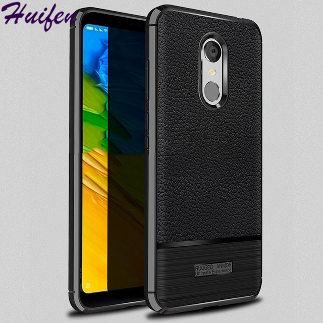 uk availability 4cc0a 09334 US $3.55 |Case For Xiaomi Redmi 5 Plus Case Litchi Texture Funda Carbon  Fiber Brushed Wire Drawing Silicone Cover For Redmi5 Plus (L1208)-in Fitted  ...