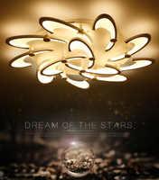 Figura del fiore di modo ha condotto le luci per la casa soggiorno plafonnier led telecommande abajur para sala luminaria led teto
