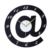 Creative letters 12 Inch Black Wood Digital Wall Clock Modern Design Decorative Kids Diy Wall Clocks