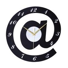 Creative letters 12 Inch Black Wood Digital font b Wall b font font b Clock b