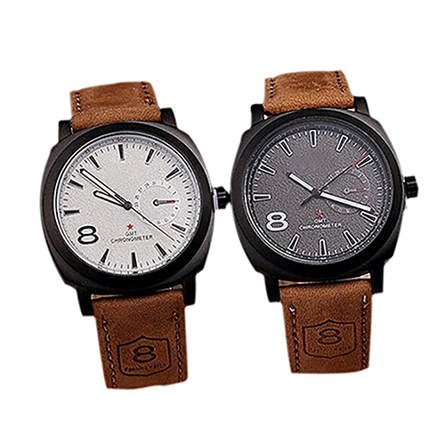 Fashion Men Faux Leather Band Quartz Analog Wristwatch Business Watch Xmas Gift paidu fashion men wrist watch casual round dial analog quartz watch roman number faux leatherl band trendy business clock