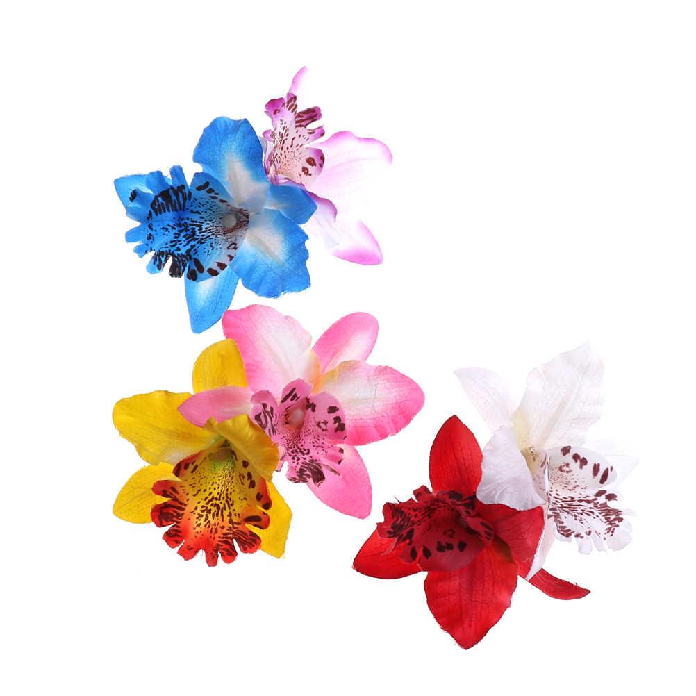 4 pz Nuovo Spilla Spille Barrette Decor Donne clip di capelli ornamenti per capelli Spille barrettes Nuziale Fiore di Orchidea Leopardo Dei Capelli clip