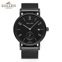 Men Brand Quartz Watches Fashion Date Military Army Watch Men Ultra Thin Strap Waterproof Watches Relogio