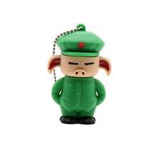 Pen drive cartoon pig usb flash 4GB 8GB 16GB 32GB 64GB 128G cute animal memory stick personalized gift pendrive