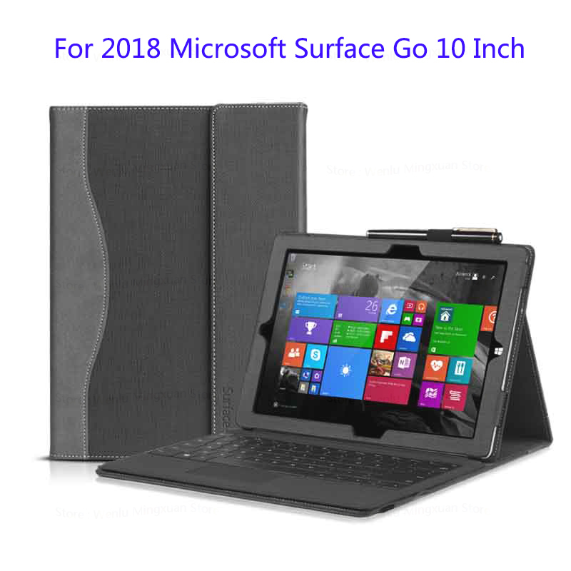 For Microsoft 2018 Surface Go 10 Inch Tablet Laptop Sleeve Case PU Leather Protective Cover Gift цена и фото