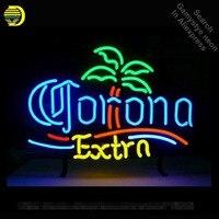 Неоновая вывеска для Corona Extra Palm Tree неоновый трубки знак коммерческих свет рукоделие Publicidad лампы магазине отображает неоновый свет знак