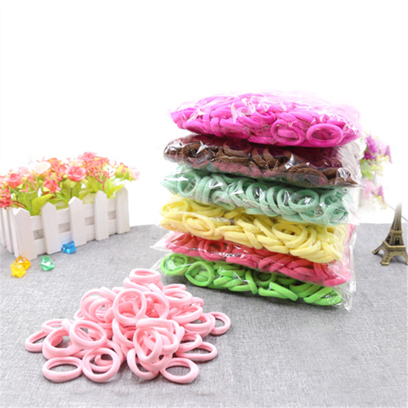 30pcs/pack 3cm Candy Colour Basic Rubber Band Children Kids Elastic Hair Band Baby Girls Hair Rope Hair Accessories