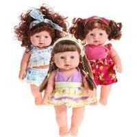Reborn Baby Doll Мягкие винилсиликоновых реалистичные для новорожденных говоря игрушка ручной работы детской игры Игрушечные лошадки куклы для д...