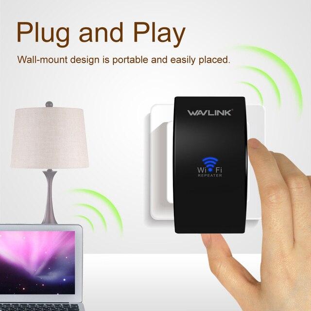 Wavlink Yükseltme UltraMini N300 Kablosuz WiFi tekrarlayıcı Wi-Fi Aralığı Genişletici wifi sinyal amplifikatörü Booster WPS Kolay APP kurulum sayfa