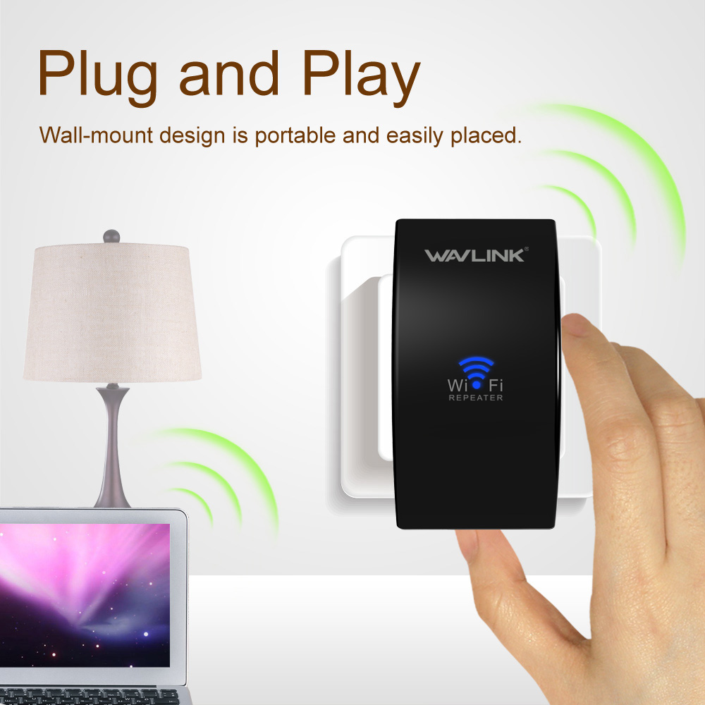 Wavlink actualización UltraMini N300 Wireless WiFi repetidor extensor de alcance Wi-Fi amplificador de señal wifi Booster WPS fácil aplicación página de configuración